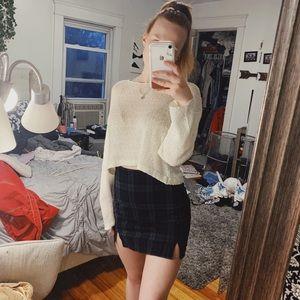 John Galt Brandy Melville plaid mini skirt